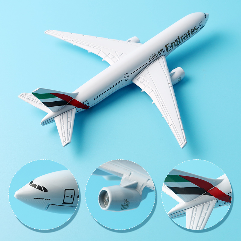 16cm United Arab Emirates B777 Airline Plane Model Alloy Boeing 777 Aviation Model Aircraft Airplane Model Stand Craft 1:400