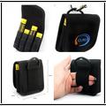 Alta calidad de nylon portable de la batería de la bolsa para 4 x 18650 batería de nylon de la batería de cuero ( 2 unids )