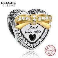 אותנטי כסף סטרלינג 925 & צבע זהב מחויב על ידי אהבה רק נשוי תכשיטי DIY קסם חרוזים Fit פנדורה צמיד מקורי ביצוע