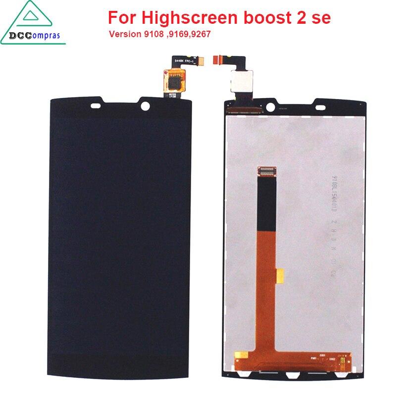 Calidad Original Para Highscreen boost 2 se 9169 9267 LCD Pantalla Táctil Para I