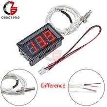 30~ 800 градусов светодиодный цифровой термометр DC 12V измеритель температуры M6 K-тип термопары пирометр тепловой детектор Тестер монитор