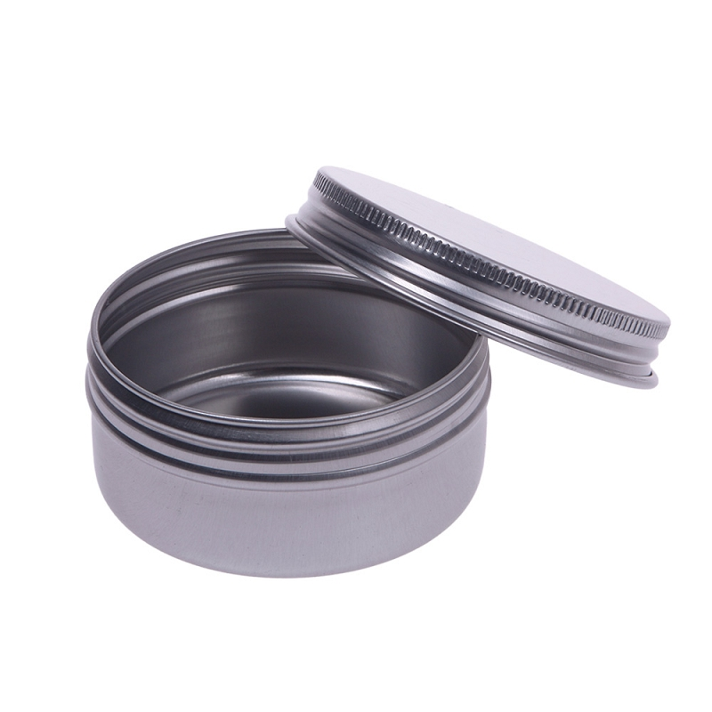 30pcs/Pack 50ML Empty Refillable Cream Containers Aluminum Makeup Case Cosmetic Jars #52641 100g ml black empty aluminum cream containers capsules refillable metal case empty aluminum cosmetic mask storage tin jars