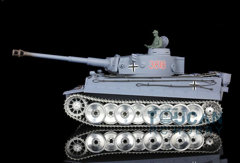 2.4Ghz HengLong 1/16 German Tiger I RC Tank Metal Road Wheels 360 Degrees Turret 3818 kjstar z07 5 black