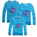 New O-neck Family Look Mother Father Son Cotton Long-sleeve T-shirt Mother Daughter Outfits Family Matching Clothes AF-1734