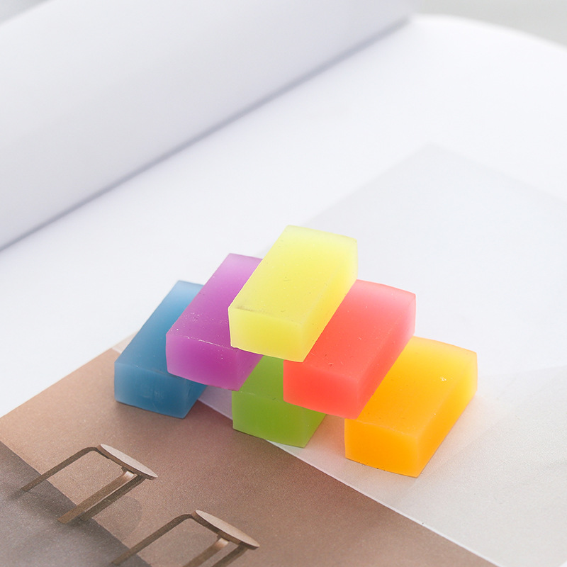 Creative Cute Eraser Rainbow colour Candy colors School Stationery Office Supplies Crystal Erasers Student Kids Eraser papelaria