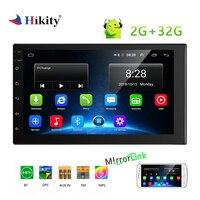 Hikity 2 din Автомобильный мультимедийный MP5 плеер 7 Android gps автомобильное радио зеркальная Ссылка Bluetooth 4,0 Автомобиль Авторадио Стерео Поддержка