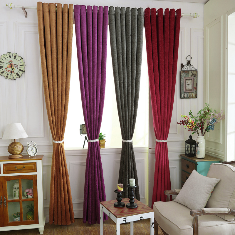 photos of curtains in living rooms room showroom pure color chenille blue thick blackout for bedroom modern window kitchen drapes ready from home garden