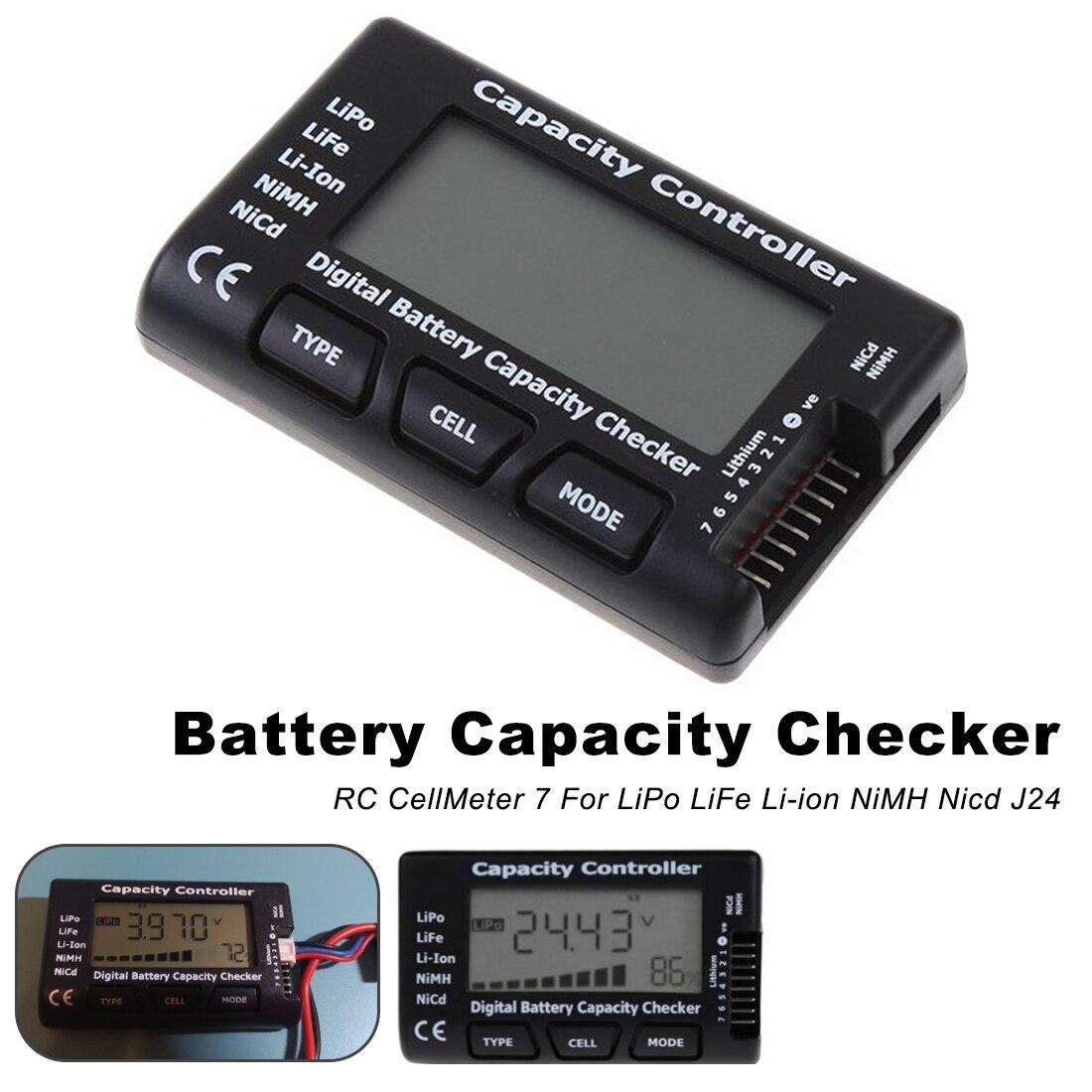 Measurement Tool Battery Voltage Tester Checking RC Meter 7 Digital Cell Battery Capacity Checker For LiPo LiFe Li-ion Nicd NiMHMeasurement Tool Battery Voltage Tester Checking RC Meter 7 Digital Cell Battery Capacity Checker For LiPo LiFe Li-ion Nicd NiMH