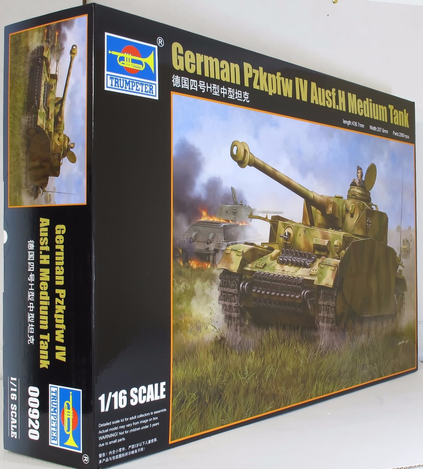 1pcs Figure Model Collections Kit For Trumpeter 1/16 Scale Tank Model 00920 German Pzkpfw Iv Ausf.h Medium Tank Jigsaw limit discounts trumpeter model 1 35 scale military models 01019 soviet 9p117m1 launcher w 9k72 missile elbrus model kit