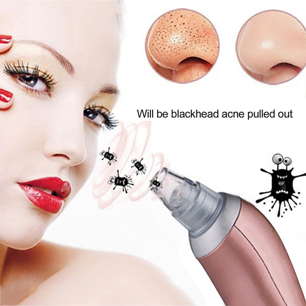 2018 Blackhead Removal Electric Facial Vacuum Pore Cleaner Spot Acne Remover Vacuum Suction Extraction Facial Cleansing Device Powered Facial Cleansing Devices Aliexpress