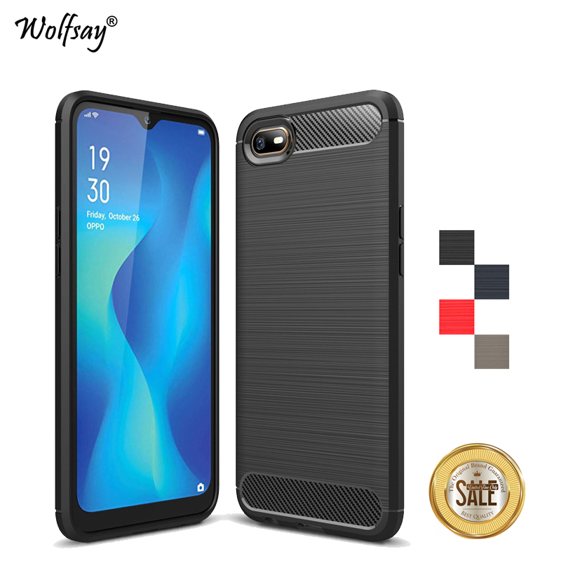 For OPPO A1K Case Luxury Brush Style Soft Rubber Silicone Protective Phone Bumper OPPO A1K Back Cover OPPO A1K Fundas CPH1923