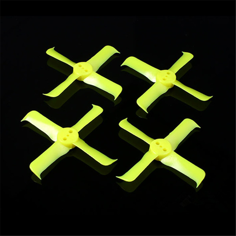 Yellow 2 Pairs FleekProp 2036 4 2x3 6x4 4 blade Propeller For 1102 1103 1104 Motor