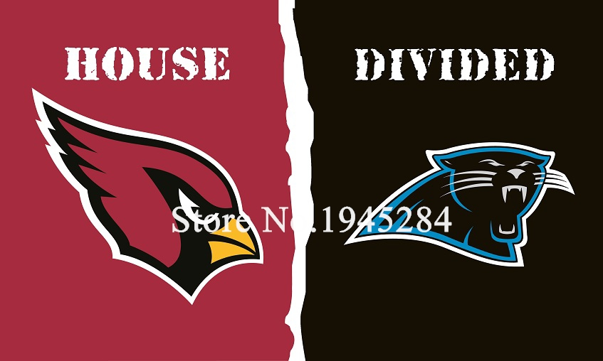 NFL Arizona Cardinals Carolina Panthers House Divided Flag 3x5ft 150x90cm Polyester Flag Banner, free shipping