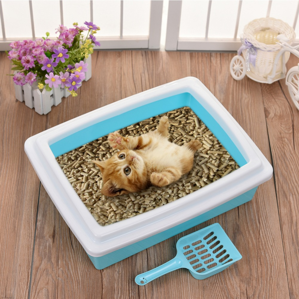 Hot Cat Bedpans Candy Color Cat Sand Basin Set Detachable Toilet For Cats Dogs Training Bedpan Litter Box Pot Toilet Free Shovel