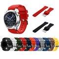 Equipo de S3 frontera/clásico reloj 22mm silicona suave hombre reloj de pulsera correa para Samsung Gear S3