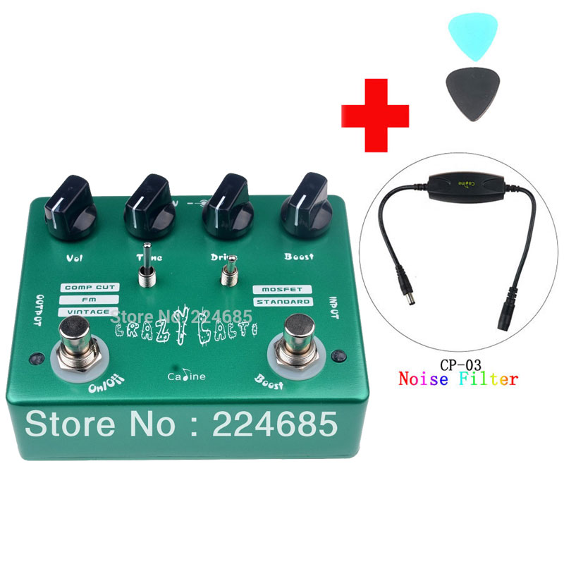 Caline CP-20 Crazy Cacti Overdrive Guitar Effect Pedal True Bypass Design CP20 Effects Pedals and Caline CP-03 Noise Filter aroma adr 3 dumbler amp simulator guitar effect pedal mini single pedals with true bypass aluminium alloy guitar accessories