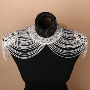 Handmade Bolero Appliques Crystals Wedding Wrap Wedding Bolero Made in China Wedding Accessories Evening Dress Bolero Shawl