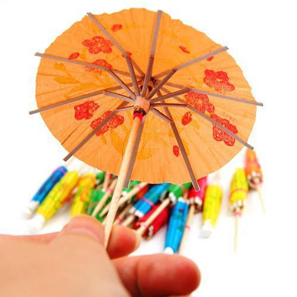 10 шт. напитки, аксессуар в форме зонтика бамбуковые палочки закуски, торт фруктовые Коктейльные шпажки символ зонтика ужин вечерние украшения