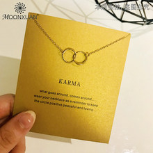 Dogeared Karma คู่-Linked แหวนวงกลม Charm Choker Gold (China)