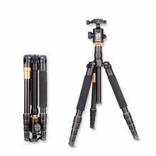 Best price Eachshot Q666 Travel Camera Tripod With Q-02 360 Degree Swivel Fluid Head For Canon For Pentax For Sony For Olympus DSLR Camera