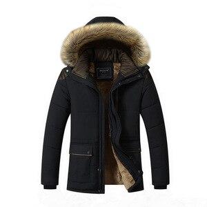Image 2 - Мужская Повседневная парка BOLUBAO, однотонная теплая Толстая куртка на молнии с капюшоном, пальто для зимы