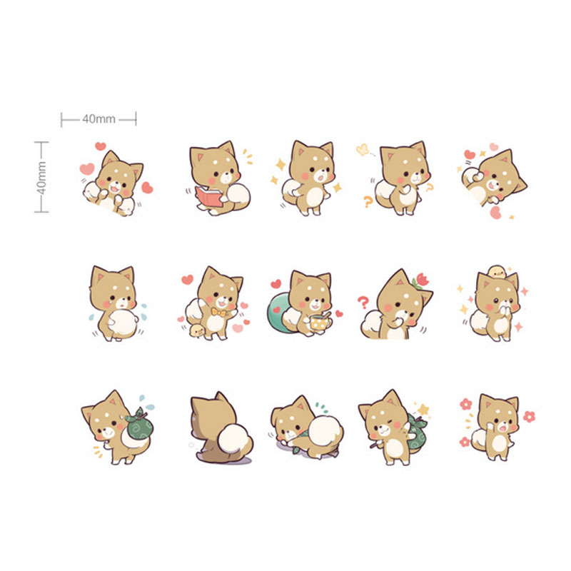 Купить с кэшбэком 45pcs/lot Kawaii Puppy Mini Paper Stickers Decoration DIY Scrapbooking Sticker Stationery label stickers