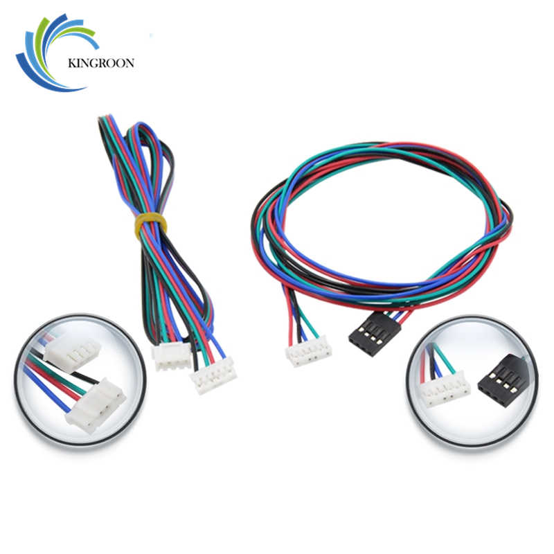 5pcs XH2.54 1 Meter Dupont Cable 4 pin Stepper Motor Wire Part Female to