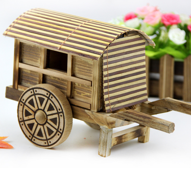 Us 1613 5 Offwooden Toy Birthday Gift Wood Bamboo Knick Knacks Handicrafts Antique Model Of Car In Ancient China Chinese Style Souvenir 1pc In