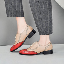 XIUNINGYAN Genuine Leather Oxford Shoes Woman Flats Brogues Vintage Handmade Lace Up Loafers Casual Sneaker Flat Shoes for Women