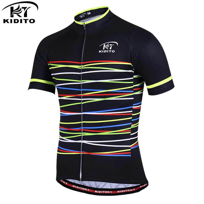KIDITOKT Pro Quick-Dry Cycling Clothing Summer Cycling Jerseys Racing Bike Clothing Men Sportwears MTB Bicycle Clothes