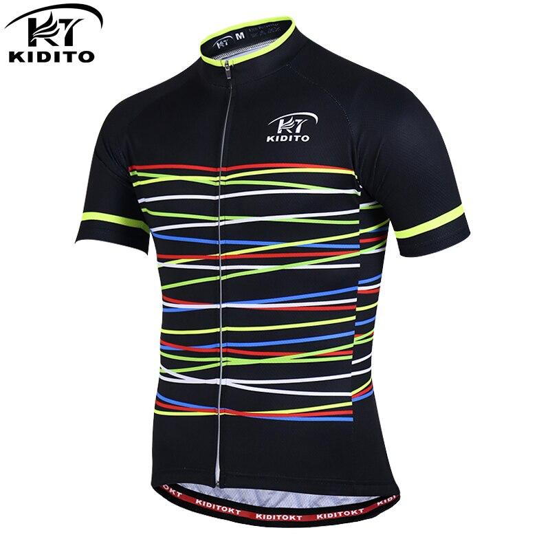 KIDITOKT Pro Quick-Seco Roupas de Ciclismo Verão Ciclismo Jerseys Homens Sportwears Roupas De Corrida de Bicicleta MTB Roupas de Bicicleta