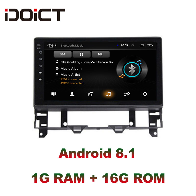 IDOICT Android 8.1 Car DVD Player GPS Navigation Multimedia For Mazda 6 Radio 2002-2008 car stereo DSP