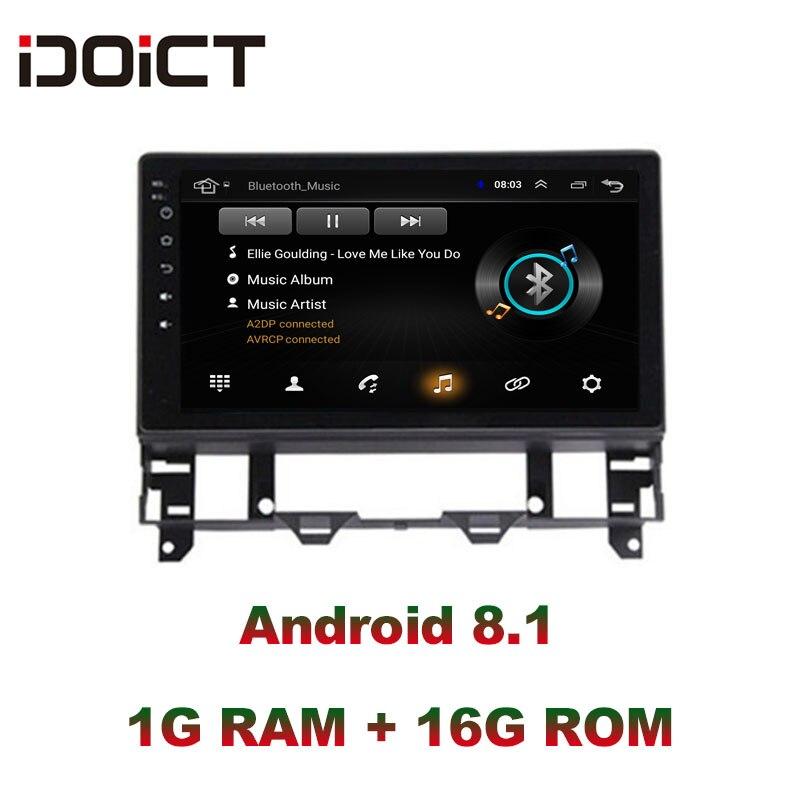 IDOICT Android 8.1 lecteur DVD de voiture GPS Navigation multimédia pour Mazda 6 Radio 2002-2008 autoradio