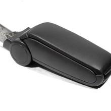 Автомобильный Стайлинг Черный кожаный подлокотник для A6 C5