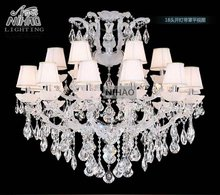 White Color Maria Theresa Crystal Chandelier Lights Cristal Lamps Lighting Fixture Large Lusters for Hotel 18 lights shade цена в Москве и Питере