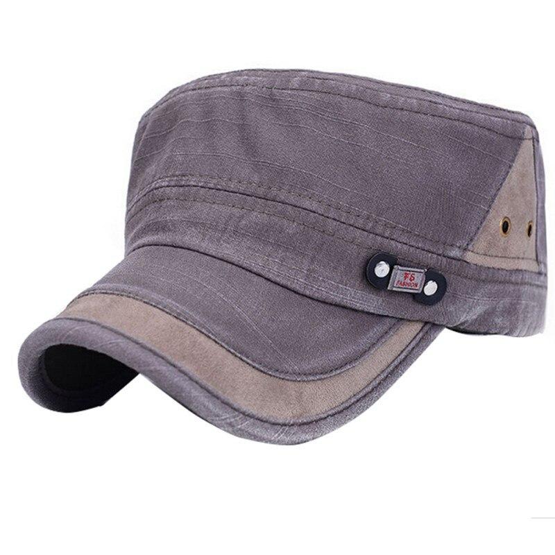 Sports & Entertainment 2018flat-top Canvas Baseball Cap Color Block Vintage Military Unisex Hat Tennis Caps