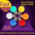 1pcs Home Lighting Colorful Led Bulb E27 3w Energy Saving White Red Blue Green Yellow Orange Pink Lamp Light Smd 2835