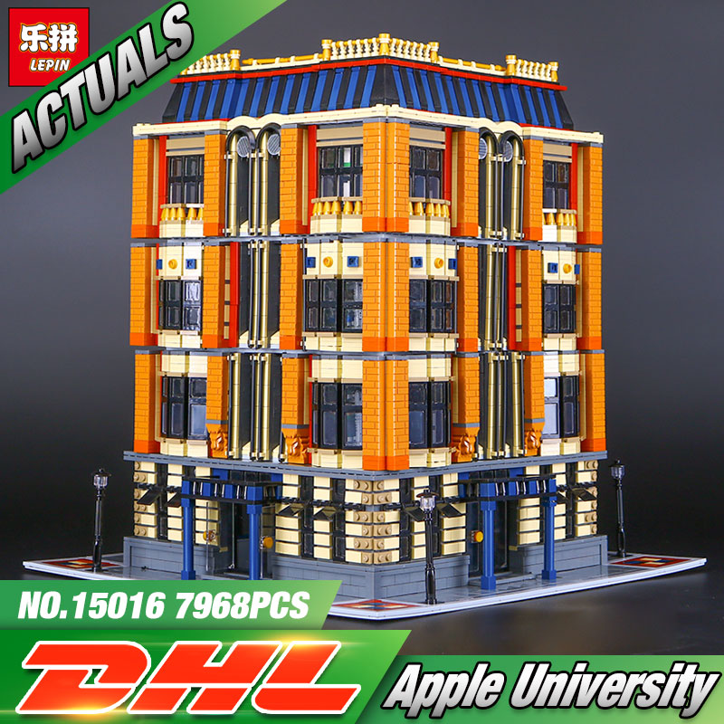New 7968Pcs Lepin 15016 Genuine MOC Series The Apple University Set Building Blocks Bricks Educational Children Toys