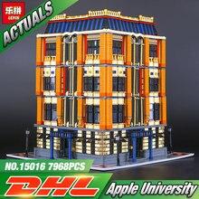 Новый 7968 шт. Лепин 15016 натуральная Moc серии Apple Университет набор строительные блоки кирпичи развивающие детские игрушки