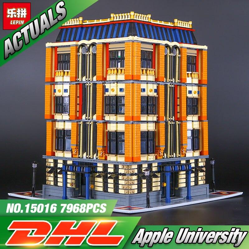Nouveau 7968 Pcs Lepin 15016 Véritable Série MOC La Apple L'université Ensemble Blocs de Construction Briques Éducatifs Pour Enfants Jouets