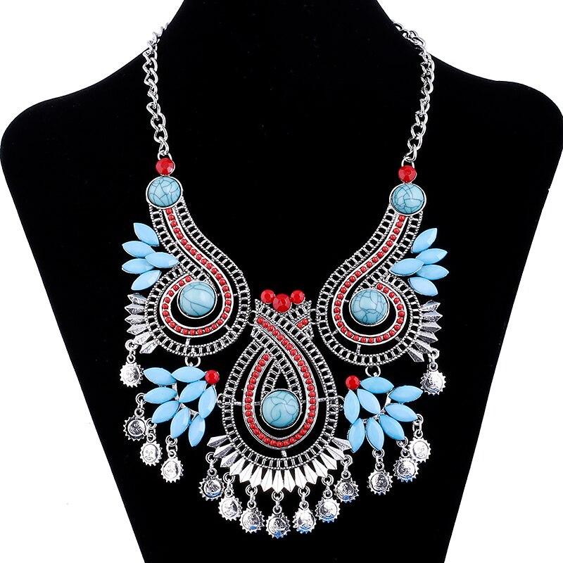 2017 Fashion Gypsy Colar Collares Bohemian Flower Ns