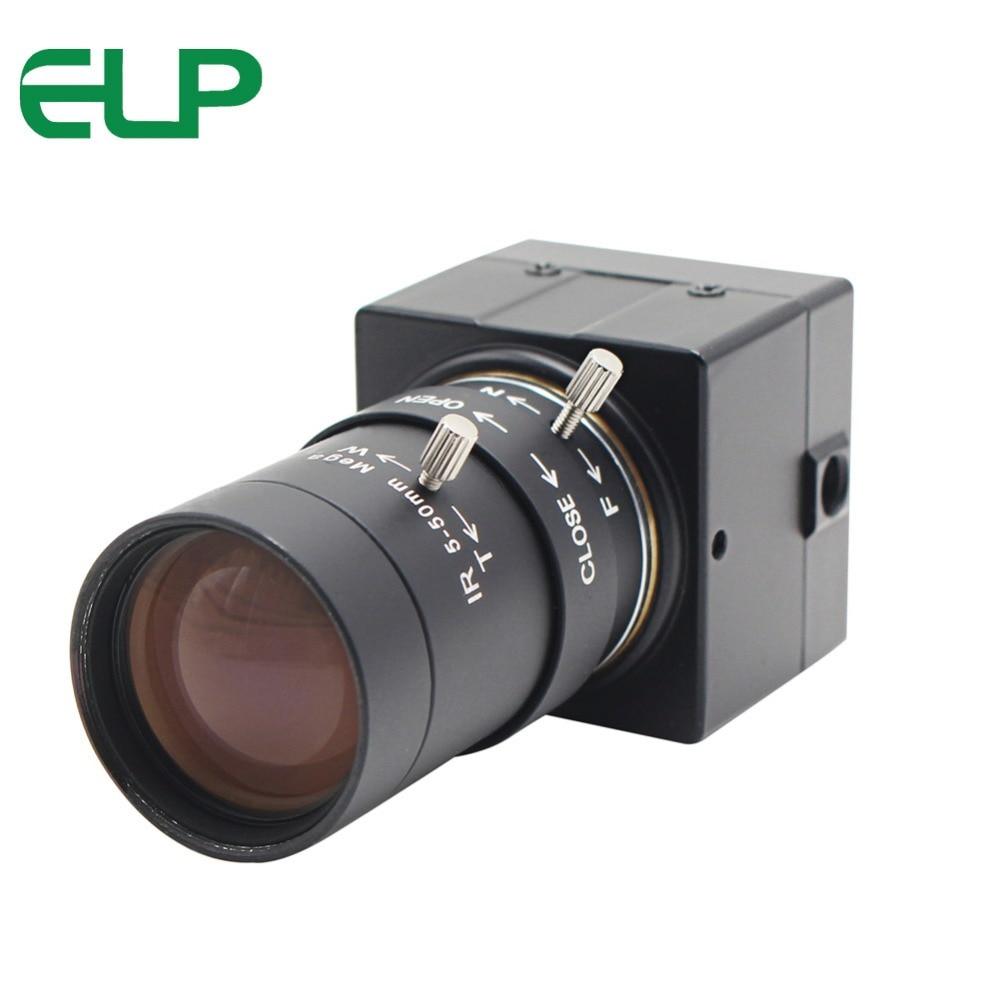 CCTV de 5-50mm lente Varifocal de 8 megapíxeles de alta definición SONY (1/3 2 '') IMX179 Super Mini HD 8MP Industrial cámara USB