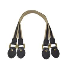 2pcs Leather Bag Handles Fabric Shoulder Strap Handbag Belt Durable Handle for Girls Accessories 60cm Coffee
