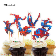 spiderman toppers birthday cake topper baby 1 party supplies avengers decorating cupcake