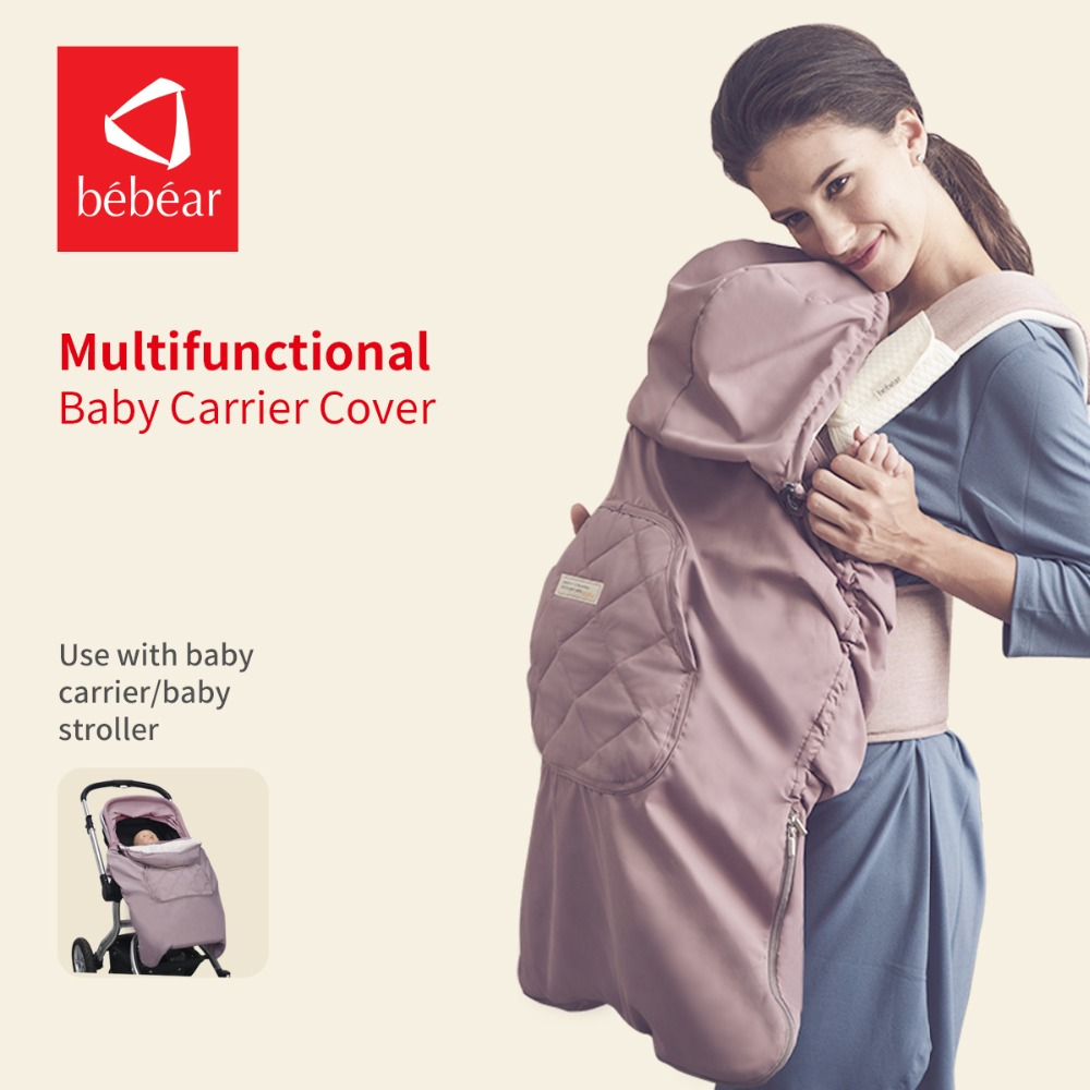 Bebear multi-function cover Warm Velvet Cloak baby carrier cover and baby stroller cover Winter Cover цена