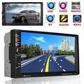 2 Din 7 Polegada Tela Touch HD Car DVD Player GPS de Navegação Bluetooth USB FM No Traço Jogador MP5 TF/MP4/MP3/USB/AUX