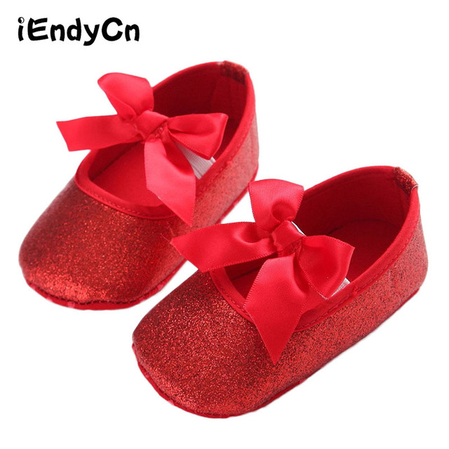 kidadndy Toddler Baby Shoes Flash Gold Bow Soft Bottom Sneaker Glitter Baby  Shoes Anti-Slip Soft Sole Toddler YEW312 ba92a55d1