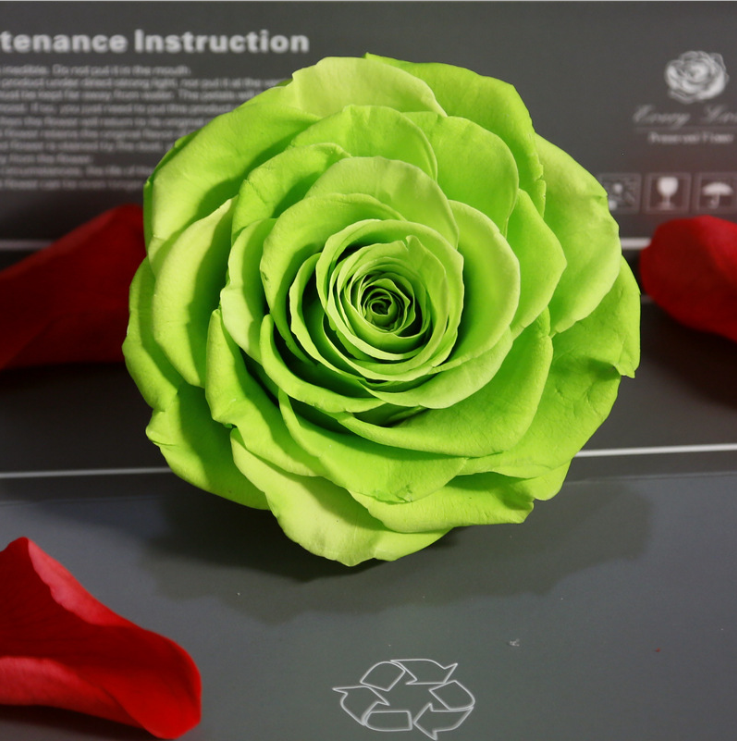 1 Doos Top Kwaliteit Bewaarde Bloemen Bloem Onsterfelijke Rose 9-10 Cm Diameter Bruiloft Tafel Decoratie Partij Decoratie