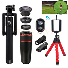 Cheap price Mobile lens Kit 8X Zoom Telephoto Lenses Telescope With Tripod Clips Macro Wide Angle Fish eye Lentes For iPhone 6s 7 Smartphone