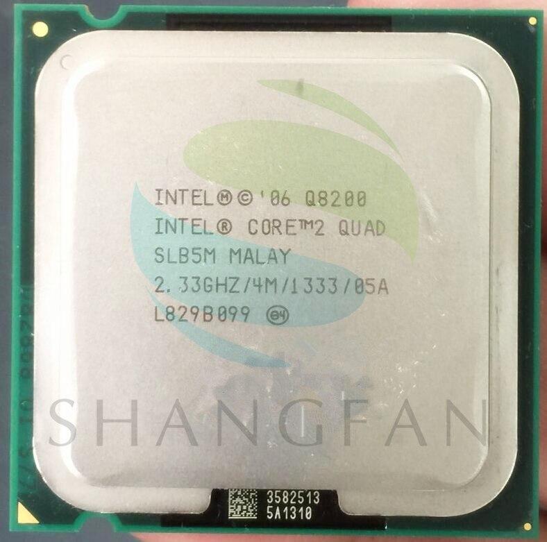 shipping for Intel cpu processor quad core CPU Q8200 SLB5M SLG9S 4M Cache 2 33 GHz